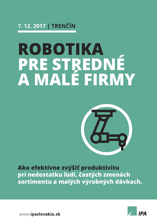 IPA a Stimba Robotika pre SME - prvá strana