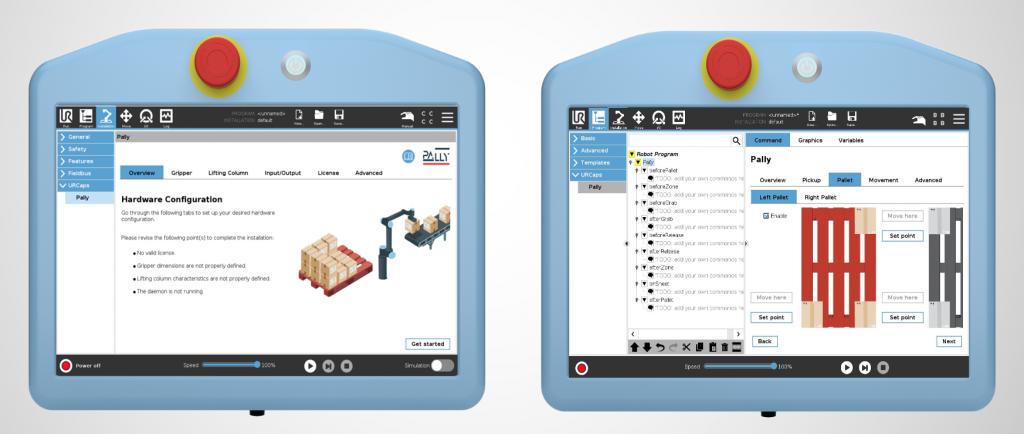 PALLY Urcap - paletizačný softvér pre Universal robots