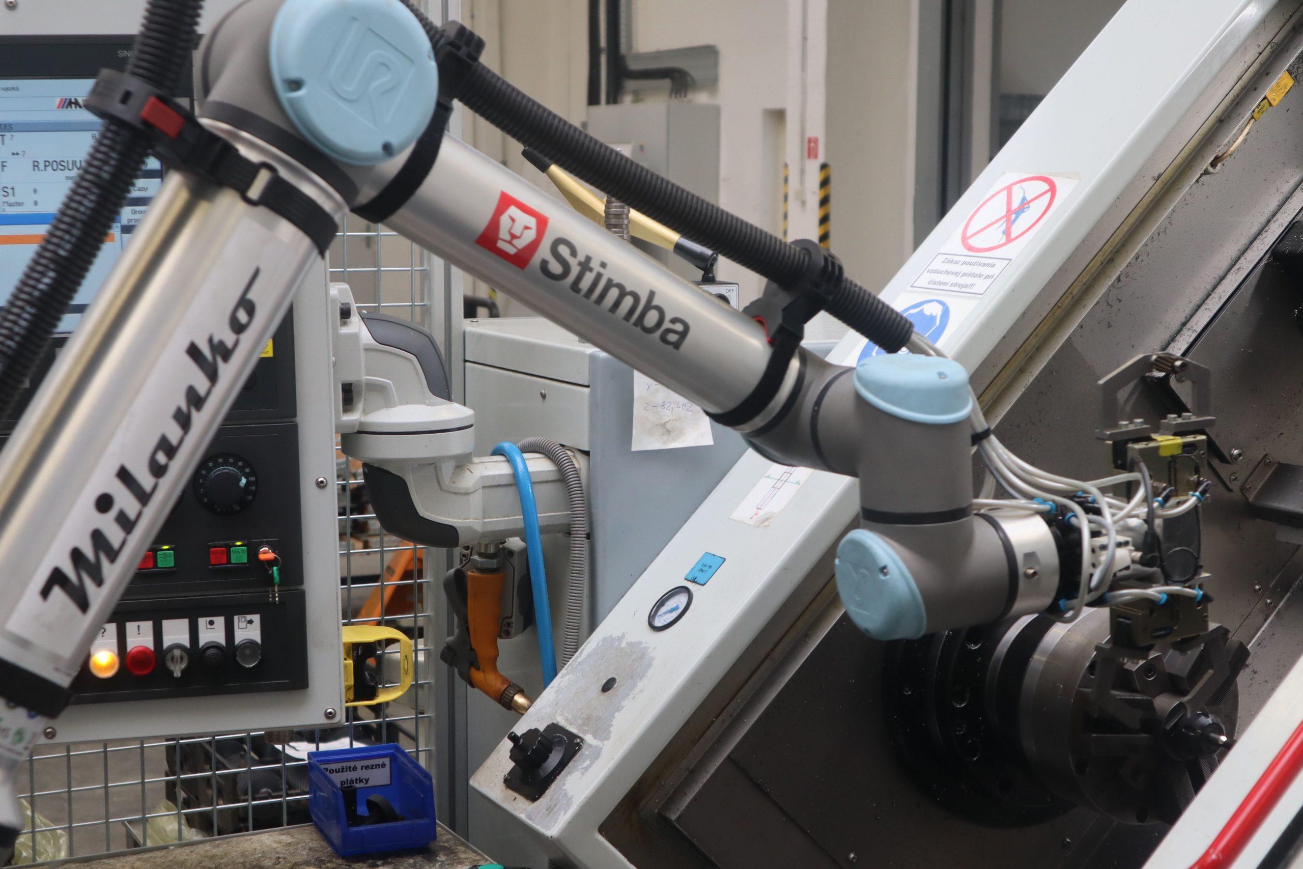 Bauer | obsluha CNC | zakladanie ozubených kolies a pastorkov s UR10e