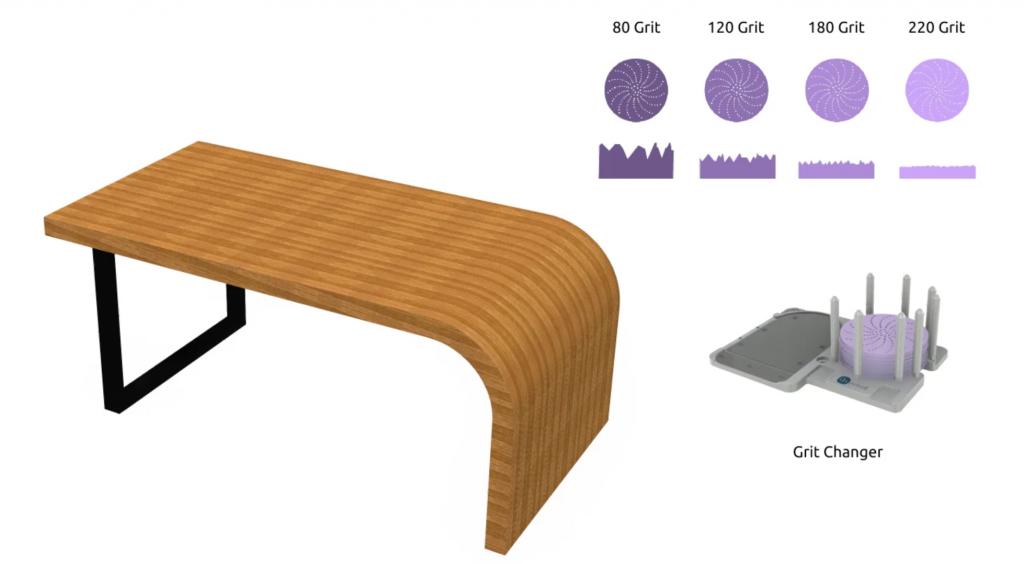 Pre dokonalý povrch používame postupne jemnejší brúsny papier. Využijeme pre to viaceré zásobníky - staničky.